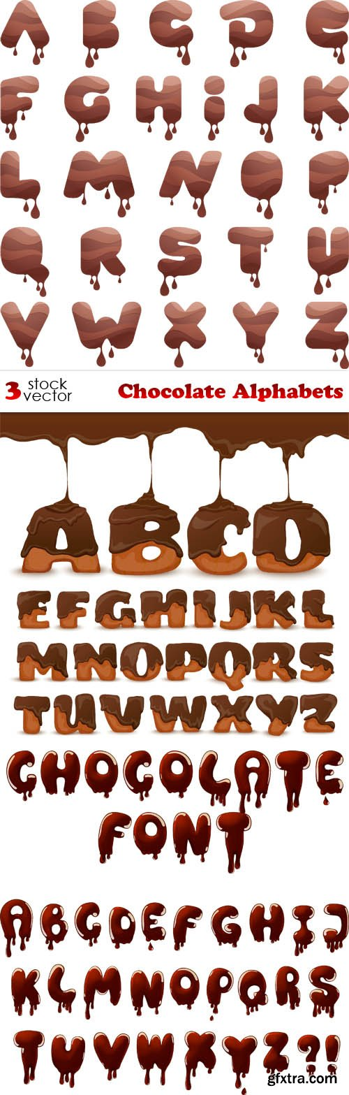 Vectors - Chocolate Alphabets