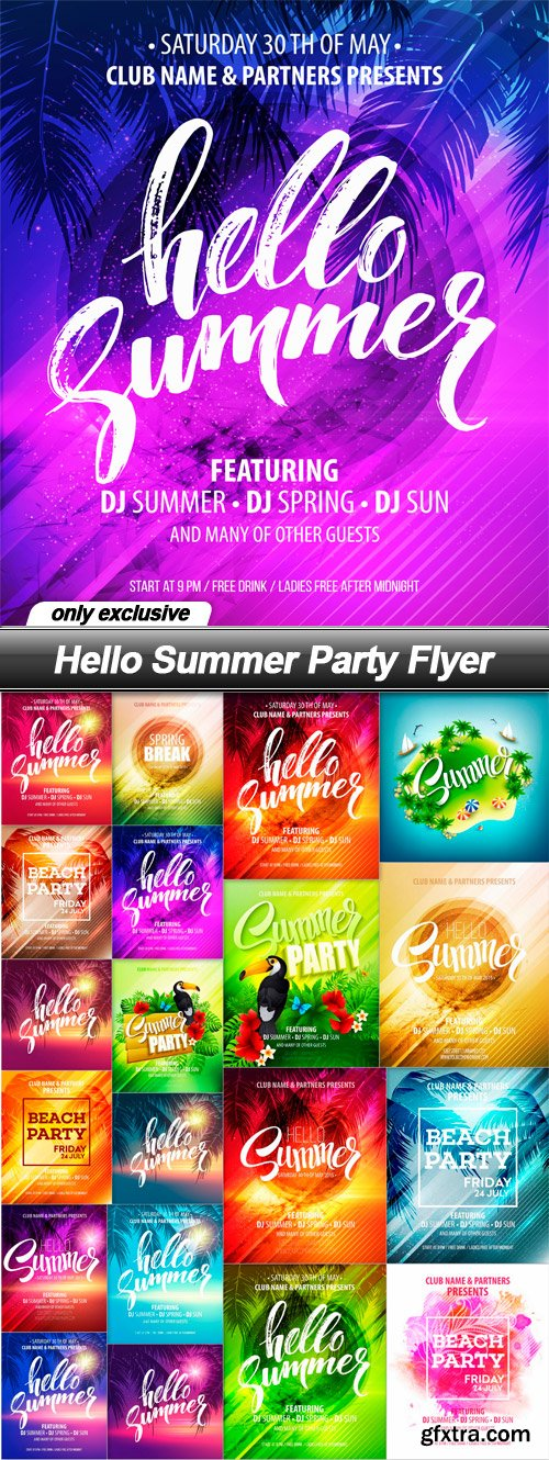 Hello Summer Party Flyer - 20 EPS