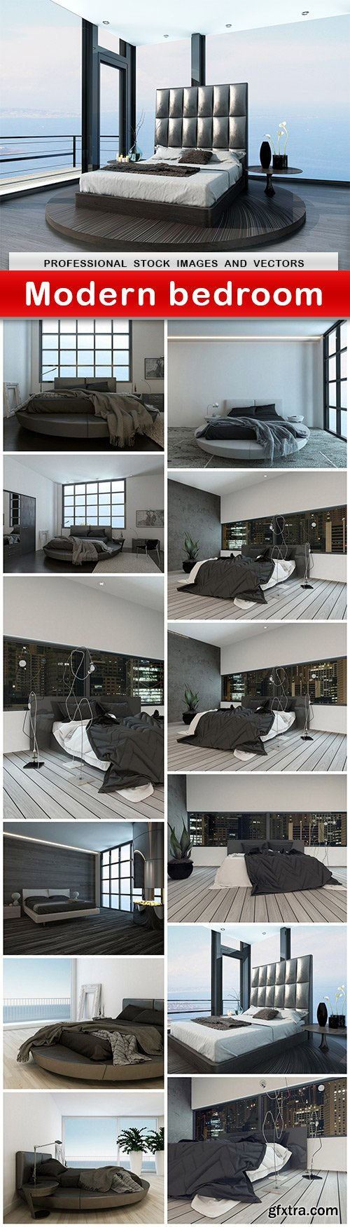 Modern bedroom - 13 UHQ JPEG