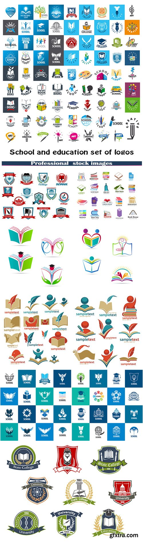 School & Education Logos 10xEPS