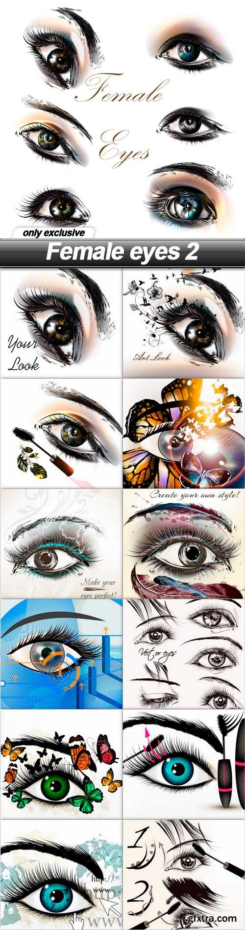 Female eyes 2 - 13 EPS
