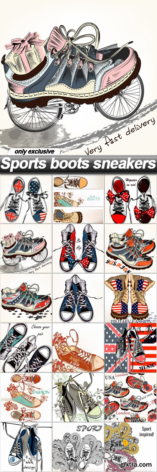 Sports boots sneakers - 18 EPS