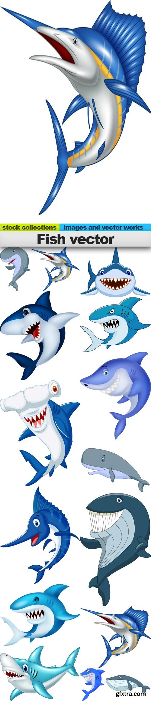 Fish vector, 15 x EPS