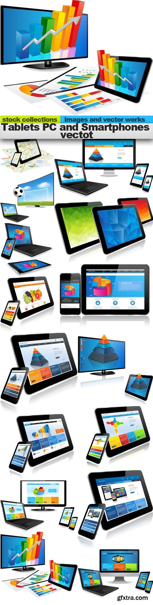 Tablets PC and Smartphones vectot, 15 x EPS