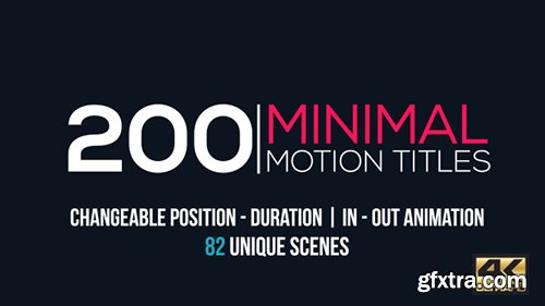 Videohive Minimal Motion Titles Pack 15713320