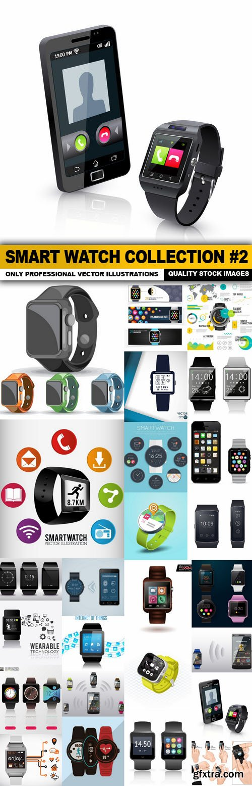 Smart Watch Collection #2 - 25 Vector