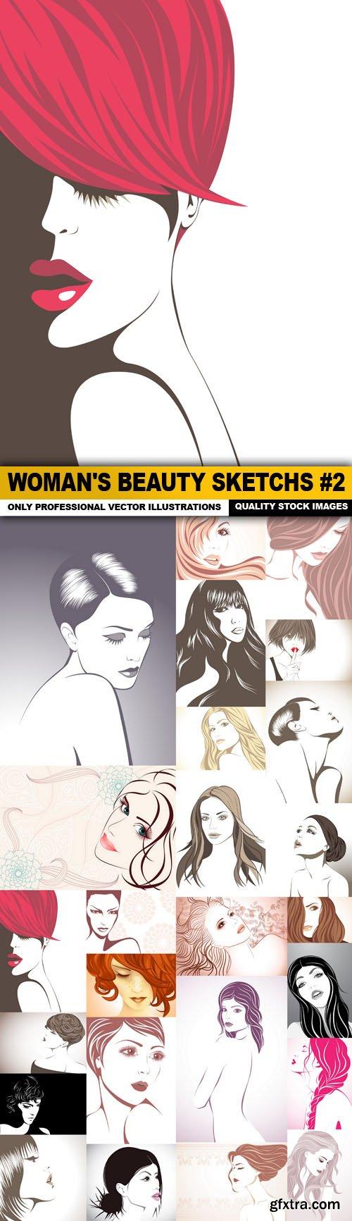 Woman's Beauty Sketchs #2 - 25 Vector