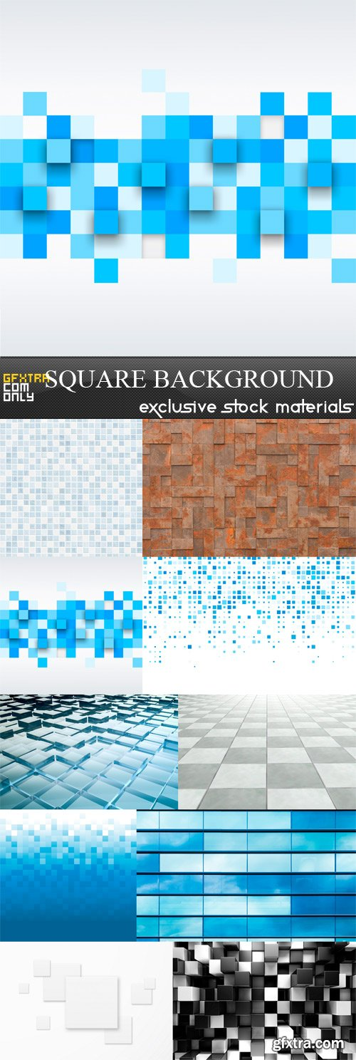 Square Background - 10 x JPEGs