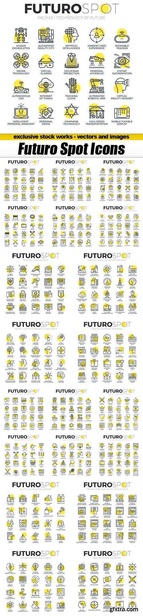 Futuro Spot Icons - 20xEPS