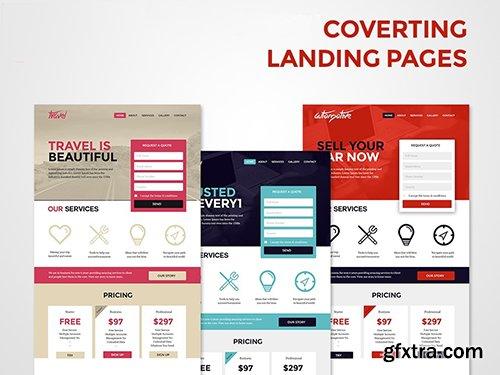 PSD Web Templates - 3 Landing Pages 2016