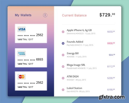 PSD Web Design - Pay Ui Kit 2016