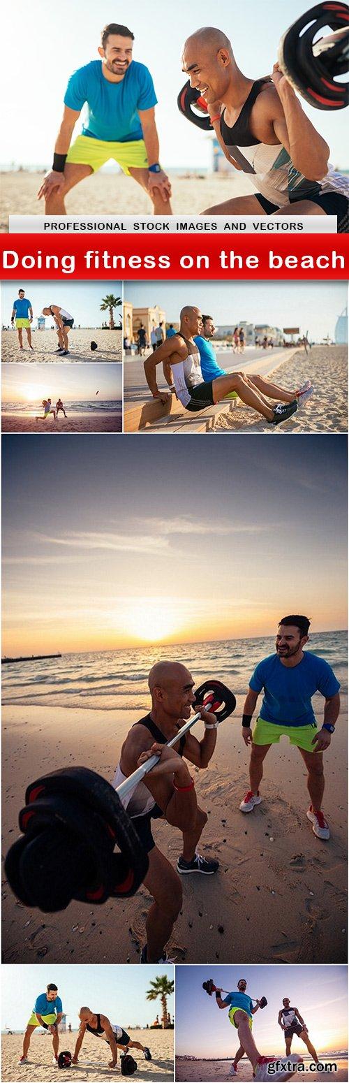 Doing fitness on the beach - UHQ JPEG