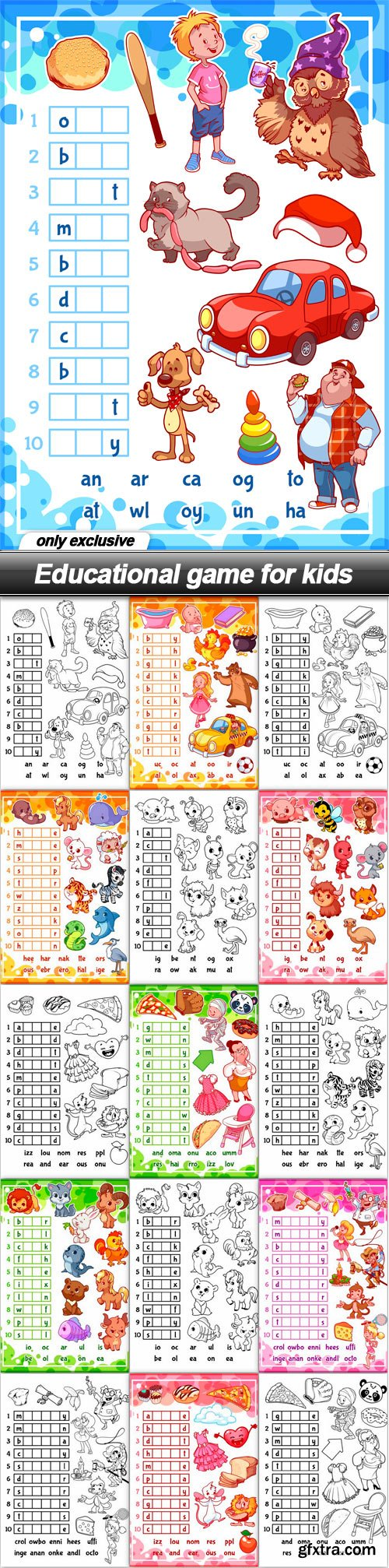 Educational game for kids - 28 EPS