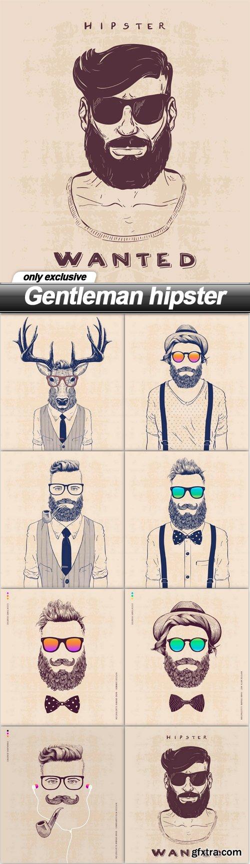 Gentleman hipster - 8 EPS