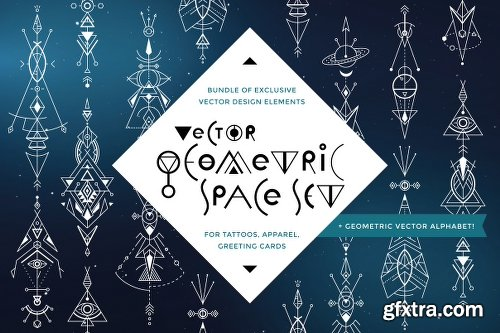 CreativeMarket Vector Geometry Space Set 700115