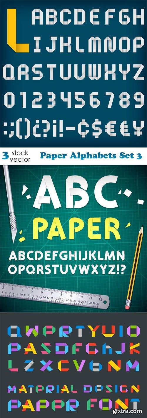 Vectors - Paper Alphabets Set 3