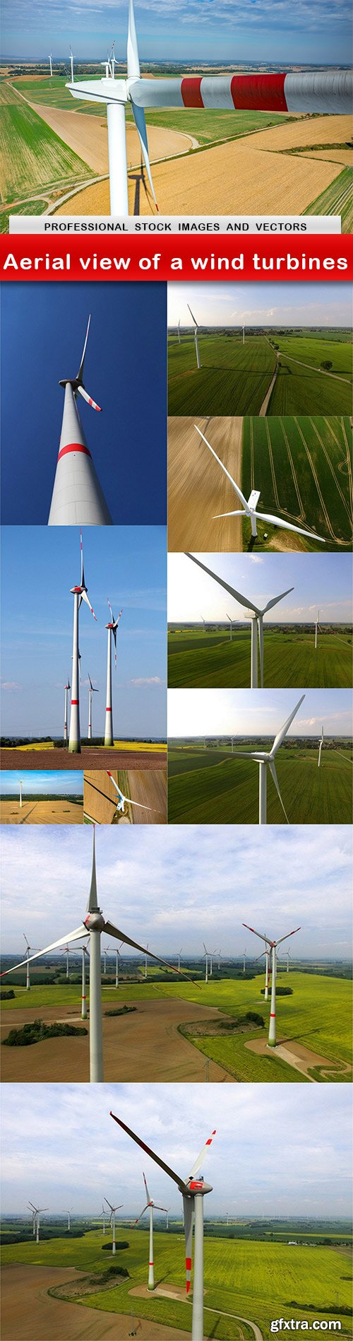 Aerial view of a wind turbines - 11 UHQ JPEG