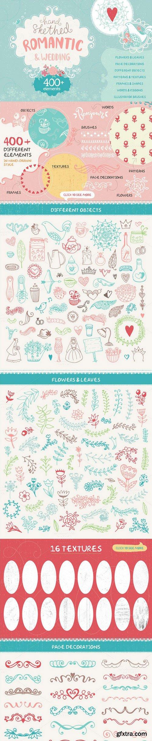 CM - Romantic & Wedding Hand Drawn Set 691316