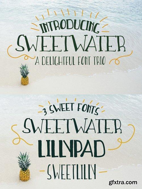 CM - Sweetwater Handwritten Font Trio 703804