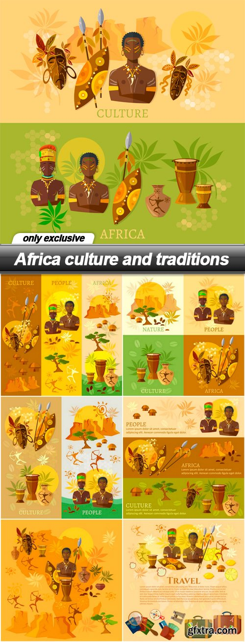 Africa culture and traditions - 7 EPS