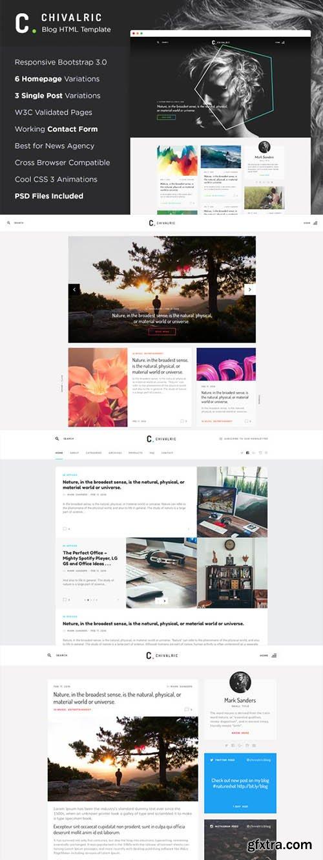 Chivalric - Responsive Blog Template - CM 696190