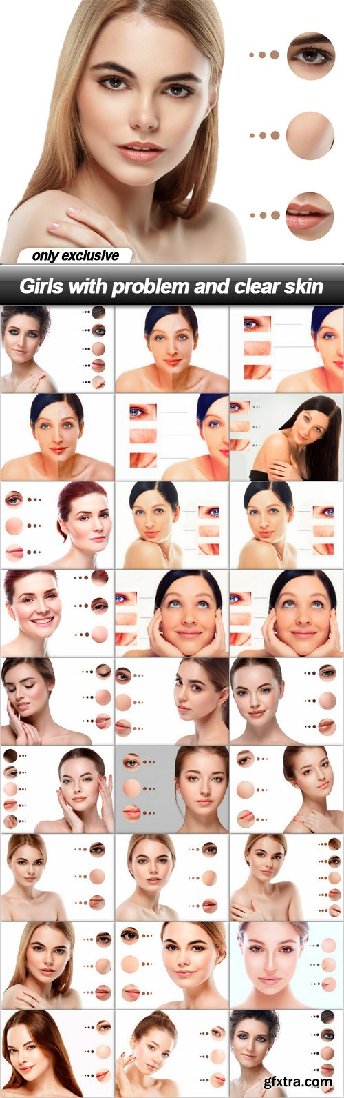 Girls with problem and clear skin - 26 UHQ JPEG