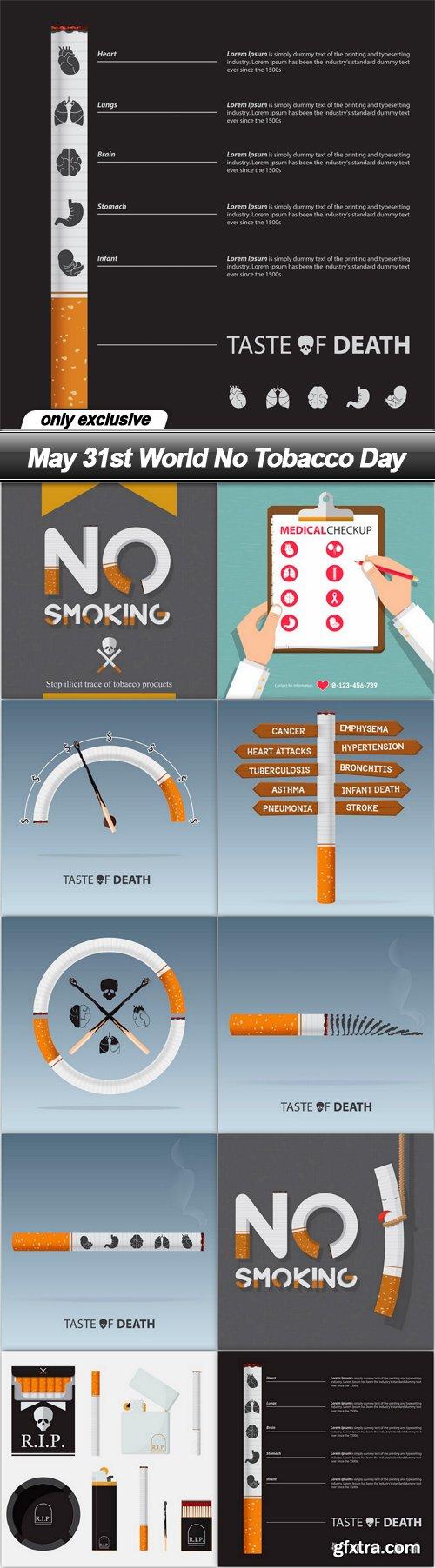 May 31st World No Tobacco Day - 10 EPS