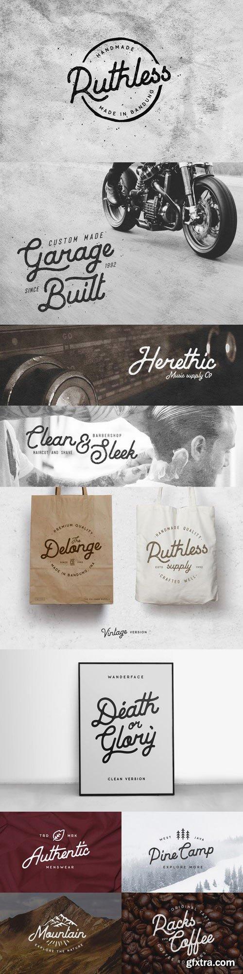 CM - Baheula Vintage + Clean Typeface 683138