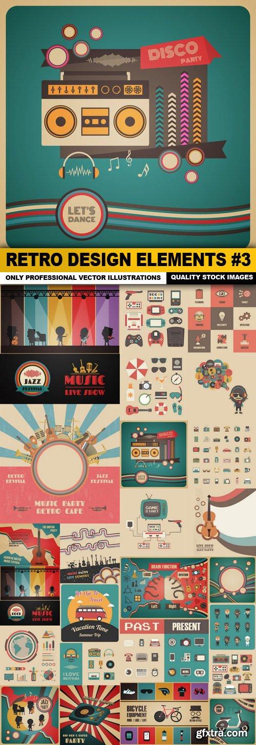 Retro Design Elements #3 - 25 Vector