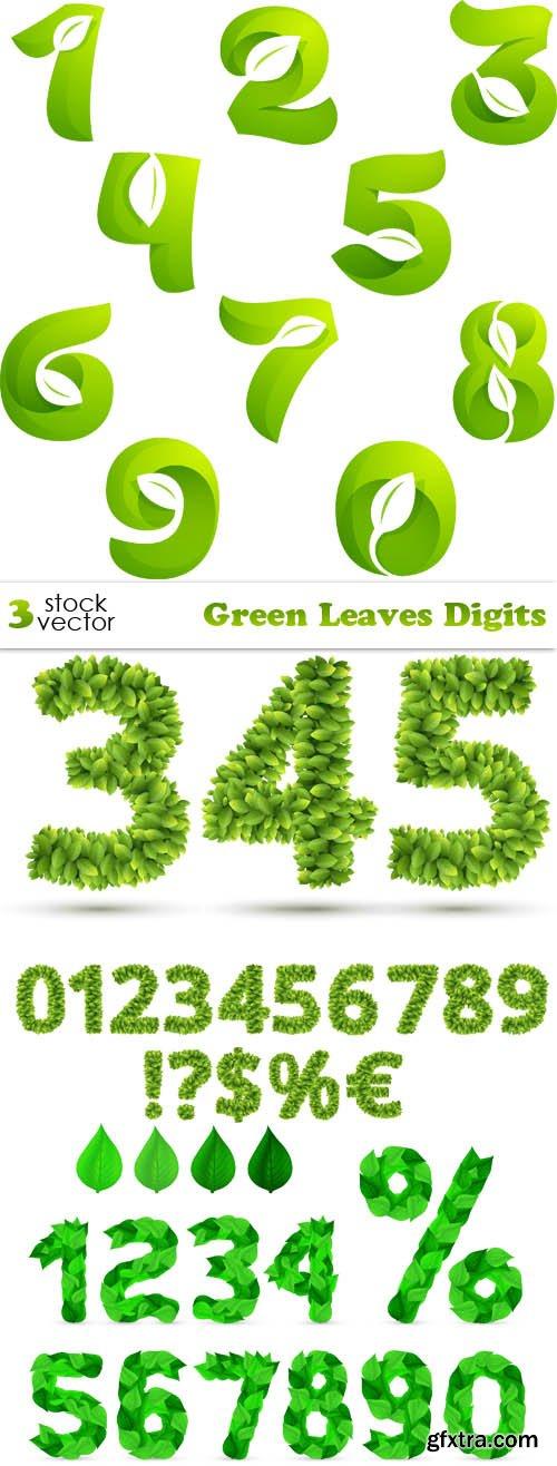 Vectors - Green Leaves Digits