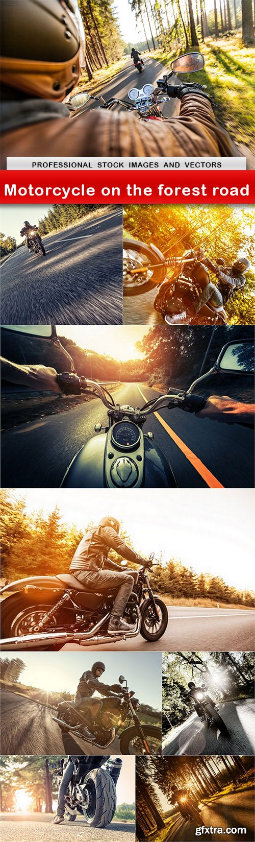 Motorcycle on the forest road - 9 UHQ JPEG