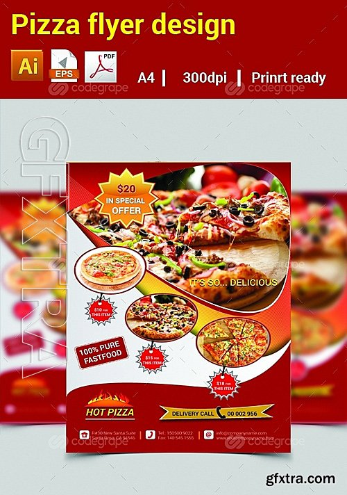 Pizza Flyer Design 6288