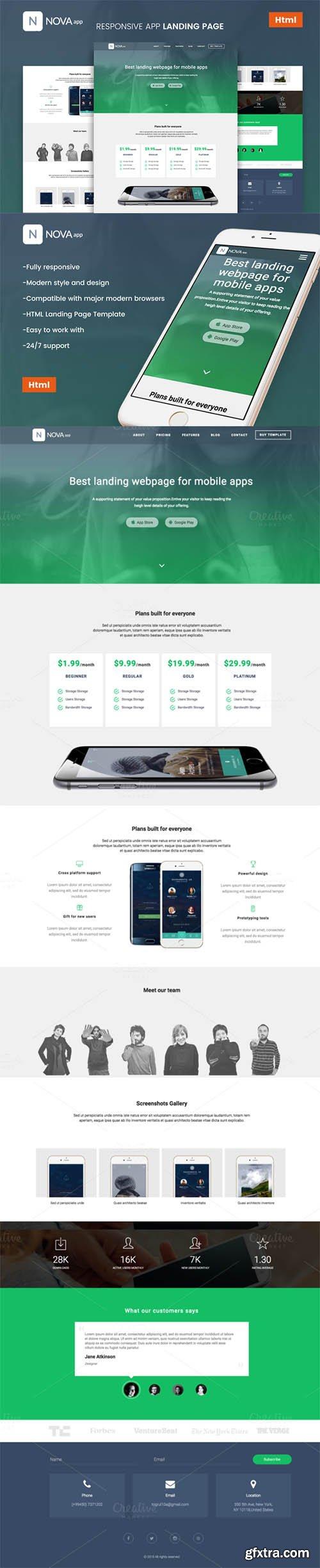 Nova - Responsive App Landing Page - CM 713112