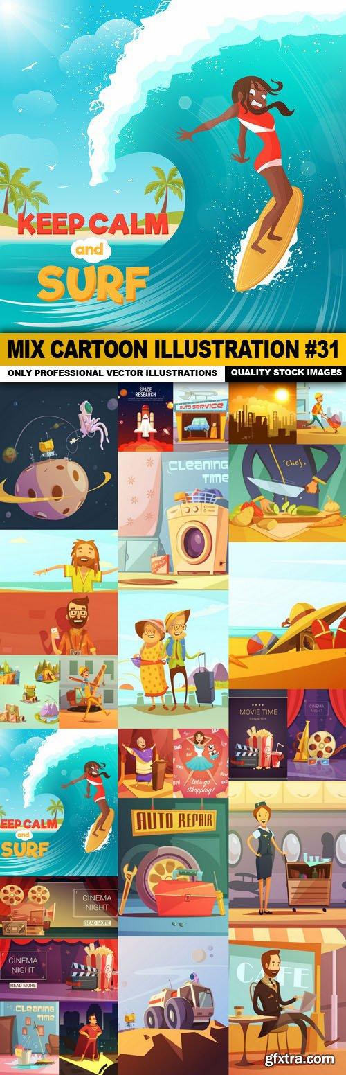 Mix cartoon Illustration #31 - 25 Vector