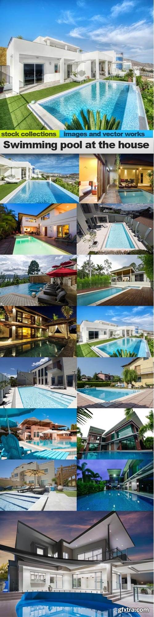 Swimming pool at the house, 15 x UHQ JPEG