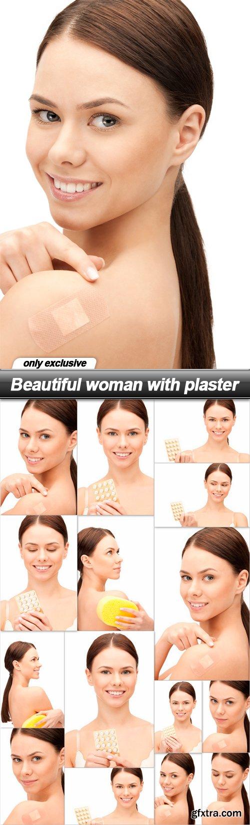 Beautiful woman with plaster - 15 UHQ JPEG