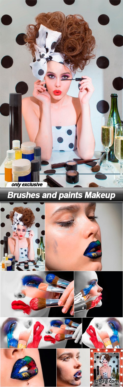 Brushes and paints Makeup - 9 UHQ JPEG