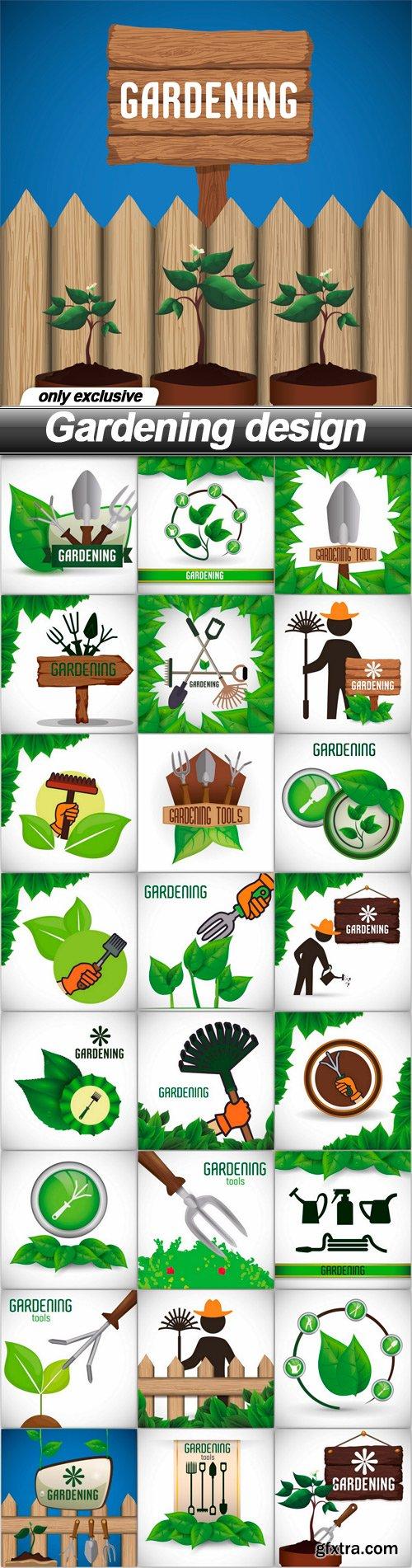Gardening design - 25 EPS