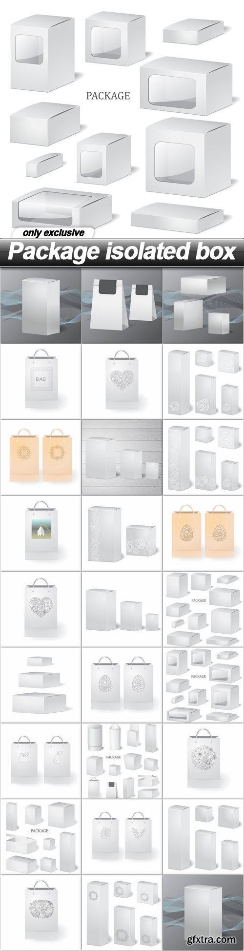 Package isolated box - 26 EPS