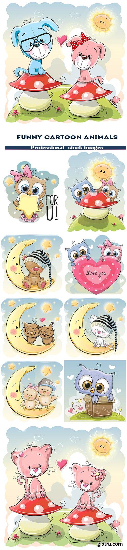 Funny cartoon animals
