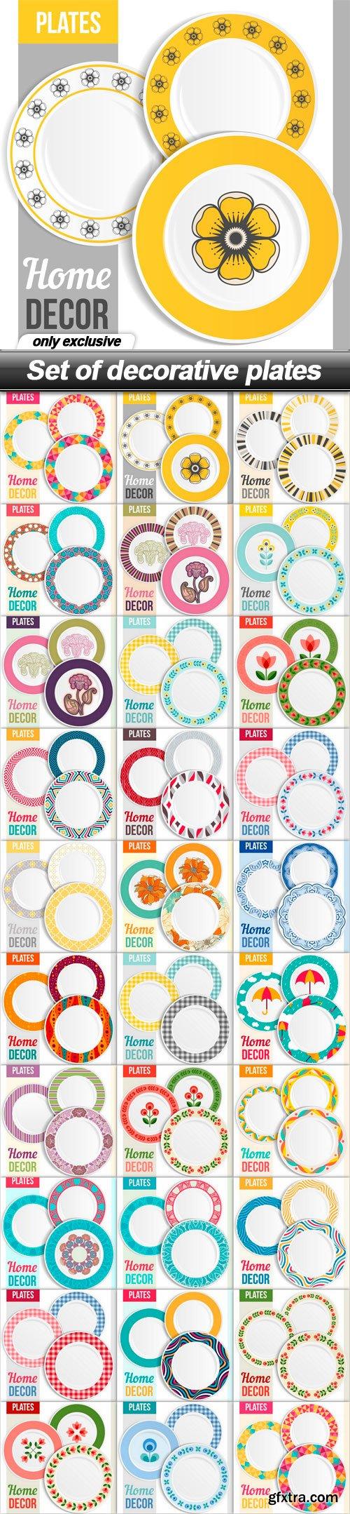 Set of decorative plates - 29 EPS