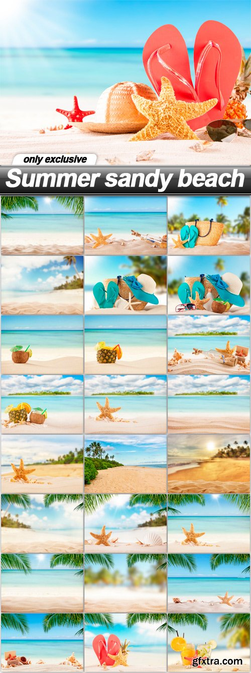 Summer sandy beach - 25 UHQ JPEG