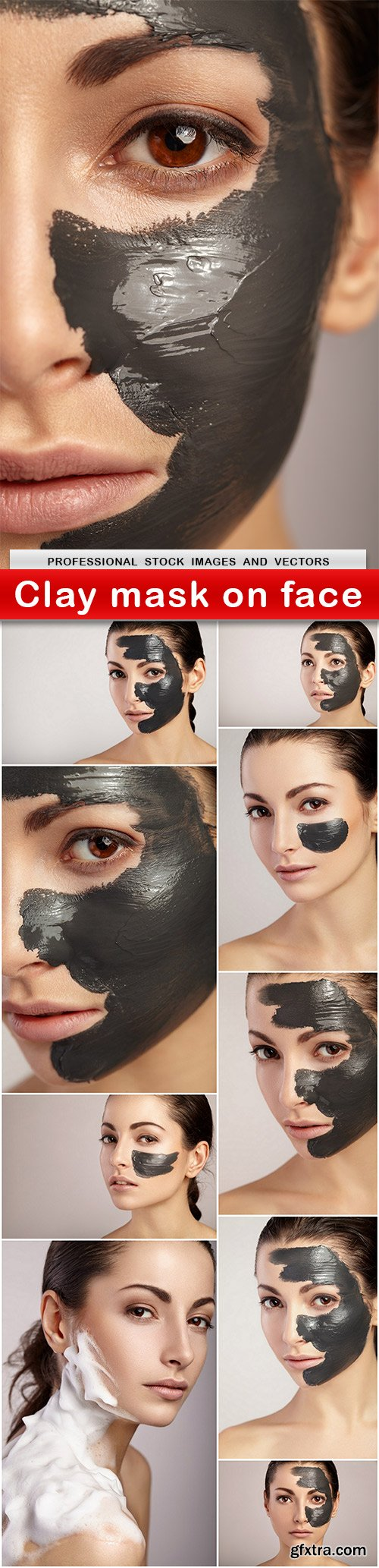 Clay mask on face - 10 UHQ JPEG