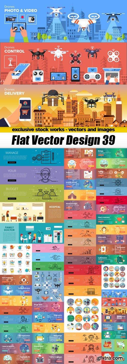 Flat Vector Design 39 - 25xEPS