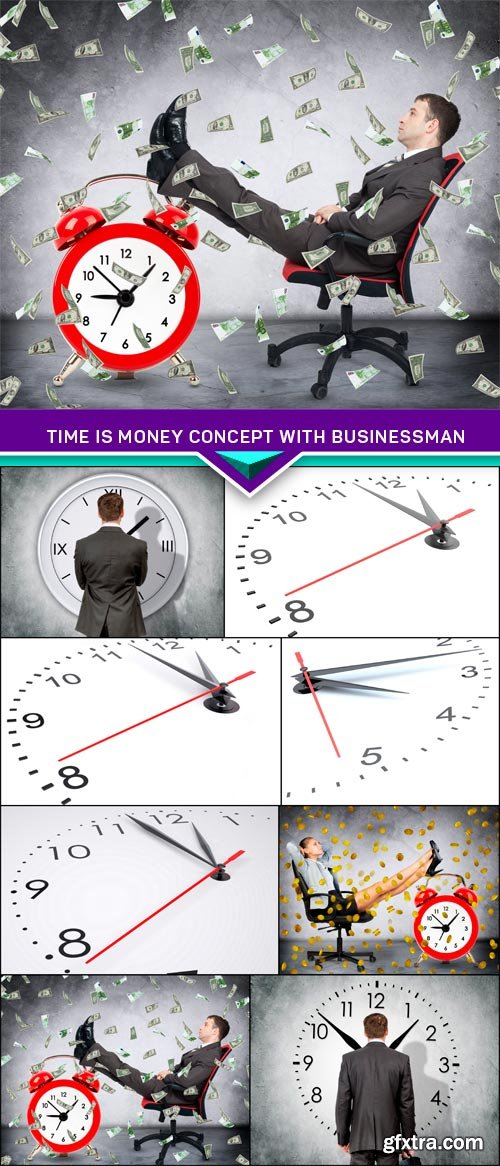 Time is money concept with businessman 8x JPEG