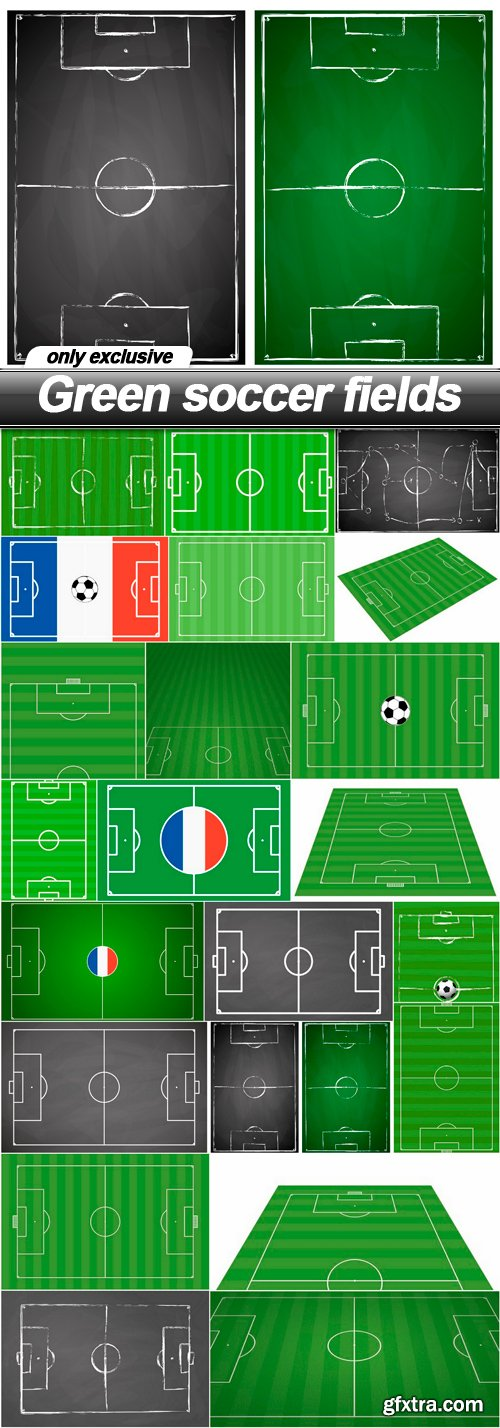 Green soccer fields - 22 EPS
