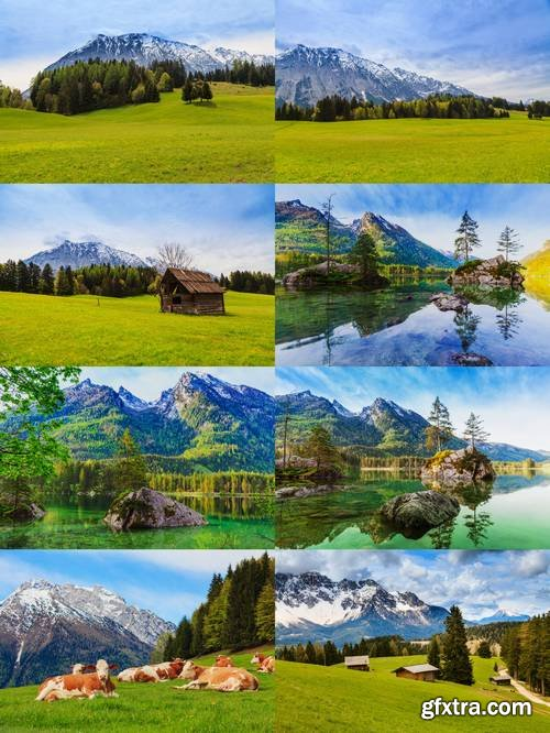 Nature Background with Mountains