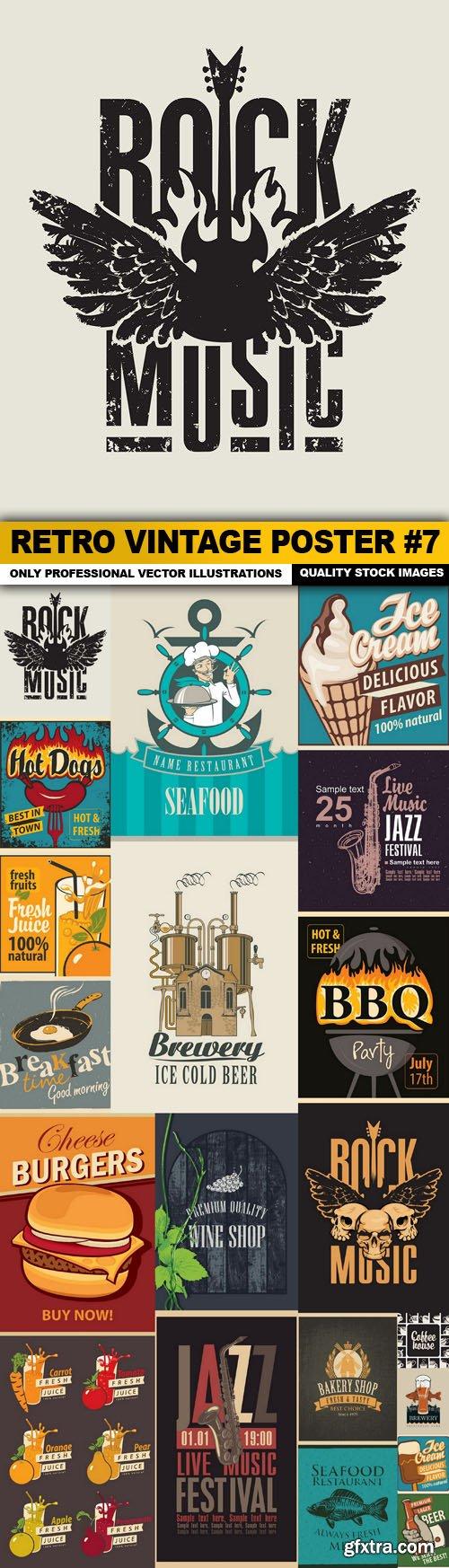 Retro Vintage Poster #7 - 20 Vector
