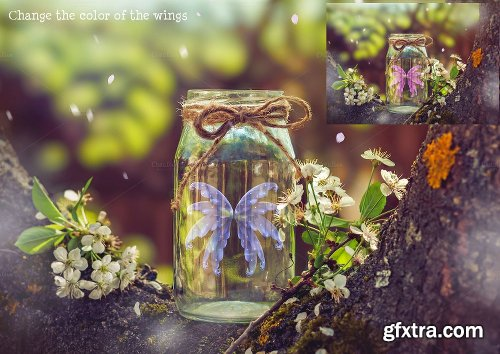 CreativeMarket The Cherry Blossom Fairy 689822