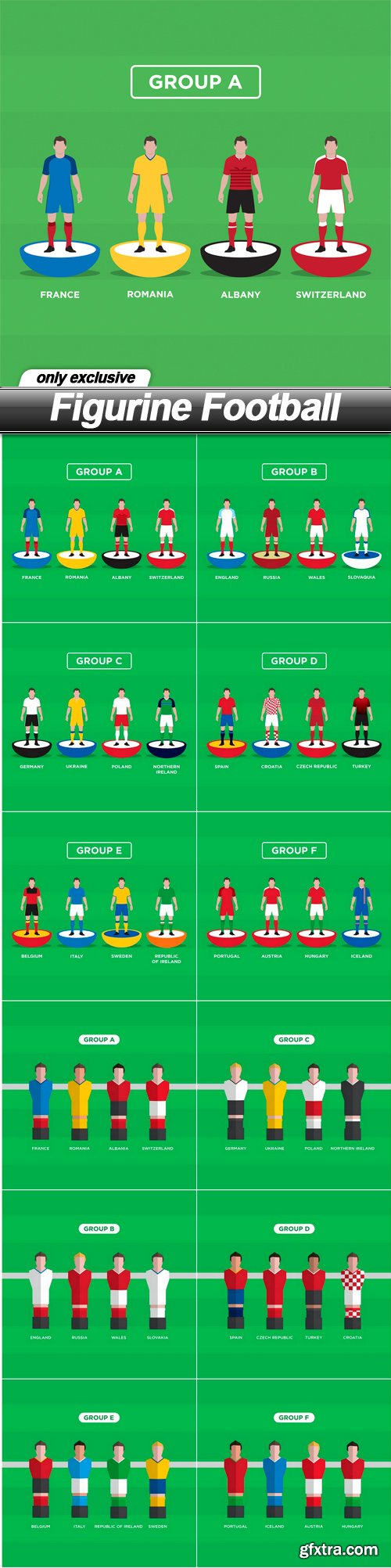 Figurine Football - 12 EPS